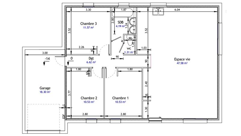 plan de maison kaza