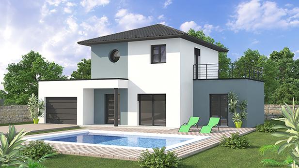 Mykaza constructeur de maison macon for Constructeur maison contemporaine macon